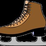 ベージュのスケート靴