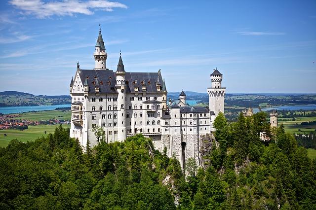 青空とお城