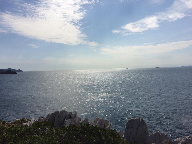 白崎海浜公園からの海