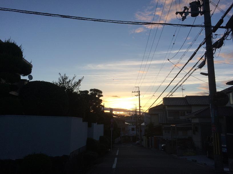 永楽荘の朝焼け
