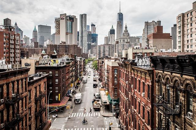 ニューヨークの大通り
