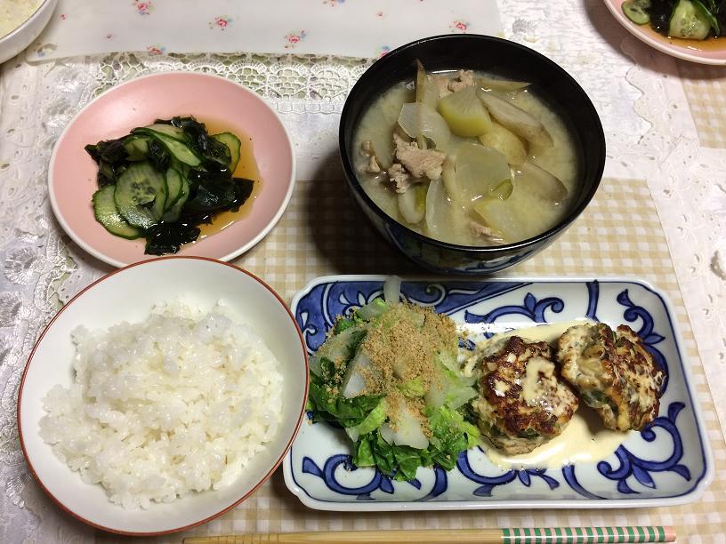 豚汁の夕御飯