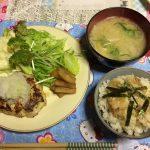 鯛めしと豆腐ハンバーグ