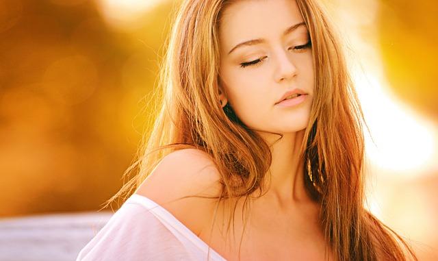 金髪の美人