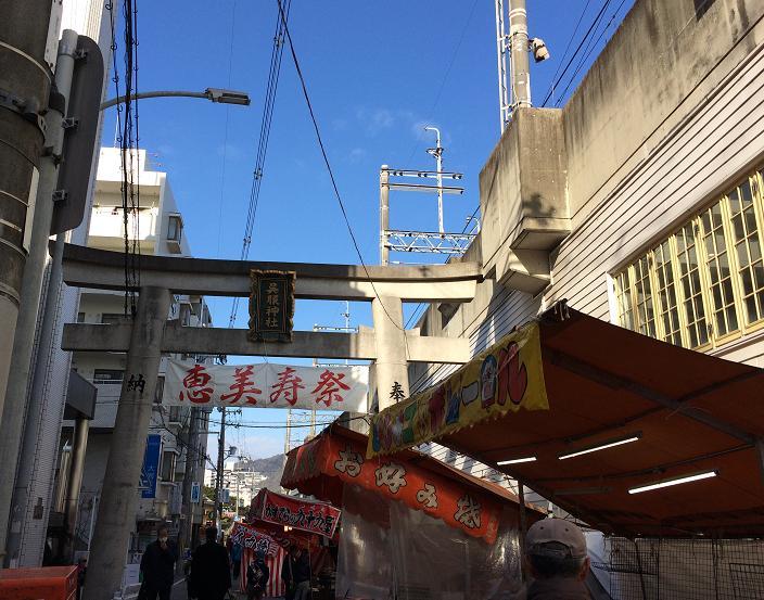 池田駅から線路沿い