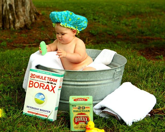赤ちゃんの行水