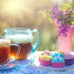 ガーデンでお茶