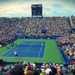 テニスの試合会場