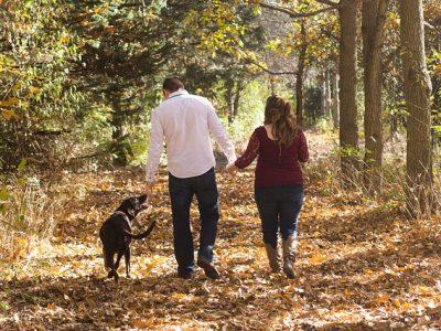 夫婦とお散歩中